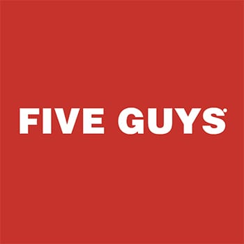 Five Guys's logo, available at The Read Dragon Centre